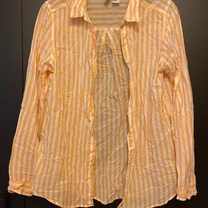 Forever 21 Yellow Striped Button Down